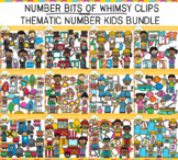 Number Bits of Whimsy Clips: Thematic Number Kids Clip Art Bundle