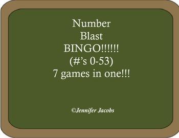 Number Blast Bingo