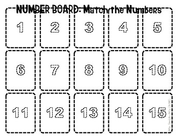 Number Board, 1 to 15