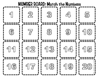 Number Board, 1 to 20