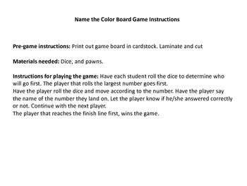 Number Board Game