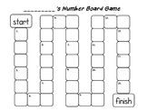 Blank Number Board Game