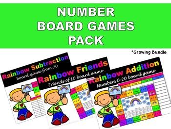 Number Board Games Pack {Growing Bundle}