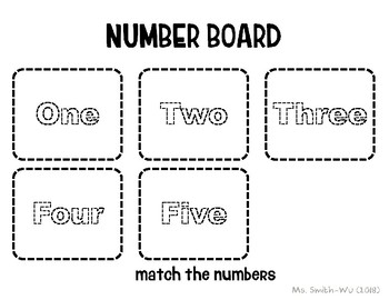 Number Board, One to Five