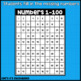 Number Boards 1-100: Fill in the Missing Numbers on the Hundreds Chart