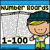 Number Boards 1-100: Fill in the Missing Numbers on the Hu