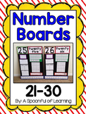 Number Boards 21-30