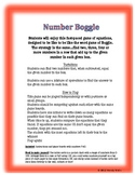 Number Boggle Math Game