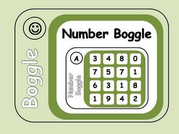 Number Boggle Task Cards