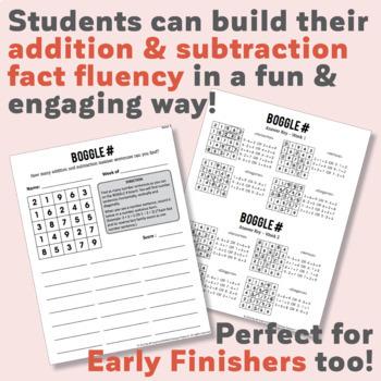 Number Boggle Worksheet Package (40 Weekly Worksheets)