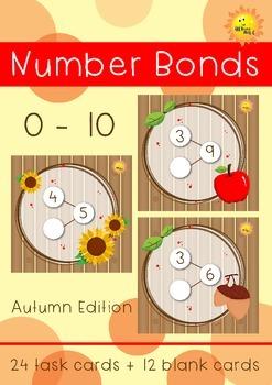Number Bonds 0-10 Task Cards