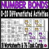 Number Bonds to 20 Number Sense Kindergarten and First Grade