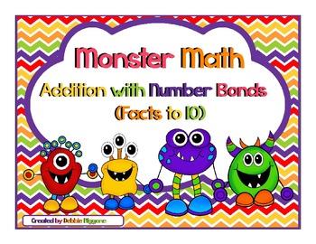 Number Bond Addition (Monster Math Theme Pack)