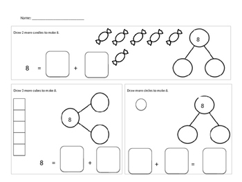Number Bond Addition Sentences Numbers 5 to 10