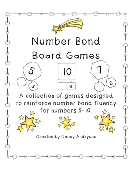 Number Bond Board Games for bonds of 5-10