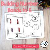 Number Bond Building to 5 DIGITAL Eureka Math Mod 4 Topic
