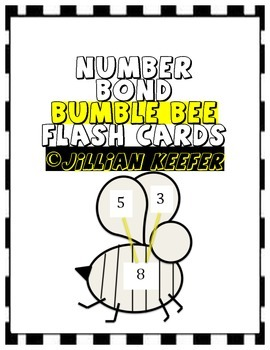 Number Bond Bumble Bee Flash Cards Template