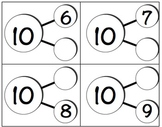 Number Bond Cards 1 - 10