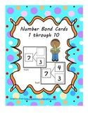 Number Bond Cards 1 through 10