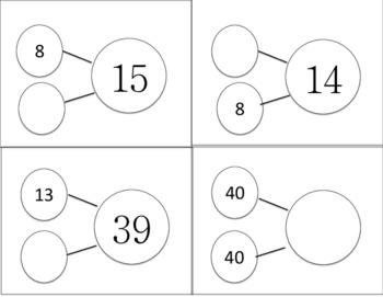 Number Bond Cards- Addition/subtraction 2-digit