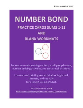 Number Bond Cards and Work Mats
