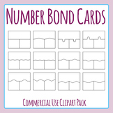 Number Bond Cards Template / Layouts Clip Art Set for Commercial Use