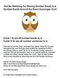 Number Bond/Fact Family Classroom Scavenger Hunt for #6 - Owl