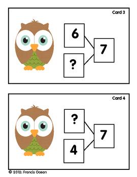 Number Bond/Fact FamilyClassroom Scavenger Hunt for #7 - Owl