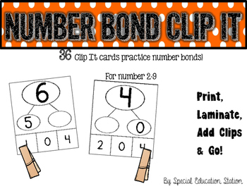 Number Bond Clip It