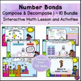 Number Bond Compose & Decompose 1 - 10 Bundle *PowerPoint Math Lessons*