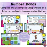 Number Bond Compose & Decompose 10 using Groups of 5 *PowerPoint Lesson*