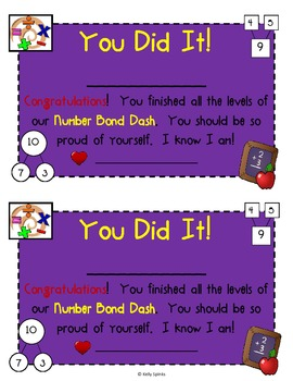 Number Bond Dash! ~ For Fluency Building with Singapore Math or Math in Focus