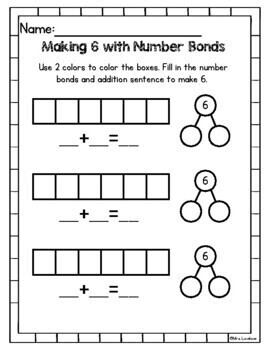 Number Bond Extra Practice - missing numbers, decomposing: Singapore math