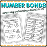 Number Bonds to 10 with Missing Addends Decomposing and Si