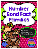 Number Bond Fact Families - Differentiated Worksheets and EASEL Activities