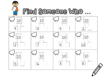 Number Bond Find Someone Who