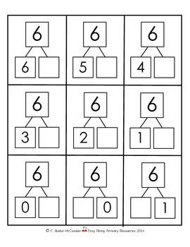 Number Bond Flash Cards