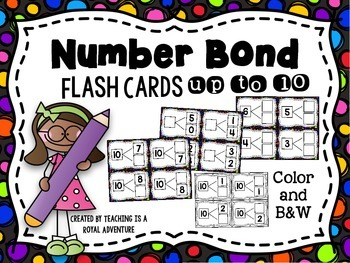 Number Bond Flash Cards