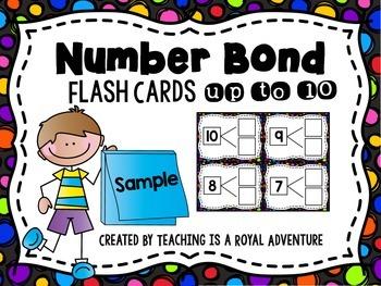 Number Bond Flash Cards Freebie