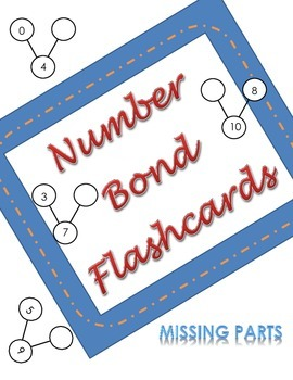 Common Core Number Bond Flash Cards- Missing Part - Engage New York; Eureka Math