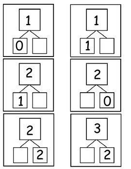 Number Bond Flash Cards (Numbers 1-10) part part whole