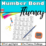 Number Bond Fluency Worksheets Addition Distance Learning Google Classroom