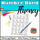 Number Bond Fluency Worksheets Addition Distance Learning