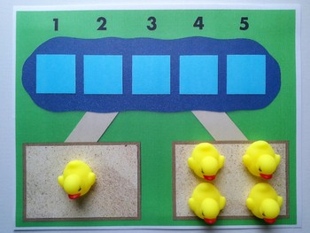 Number Bond Game (Sum of 5) - 5 Little Ducks