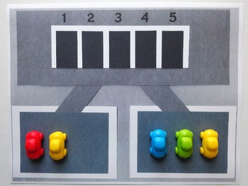 Number Bond Game (Sum of 5) - Parking Cars