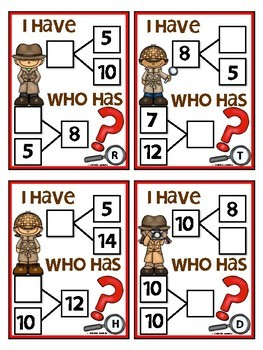 Number Bond (I have Who has Game)