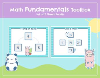 "Math Fundamentals Toolbox: Sheets ""Number Bond"" and ""Less & More"""