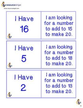 Number Bond Loop Cards
