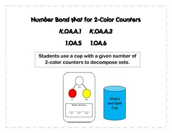 Number Bond Mat for Decomposing with 2-Color Counters