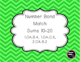 Number Bond Match  Sums 10-20 1.OA.B.4, 1.OA.C.6, 2.OA.B.2